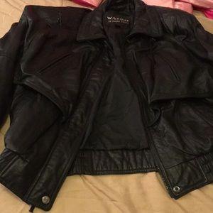 Wilson's leather bomber jacket vintage retro